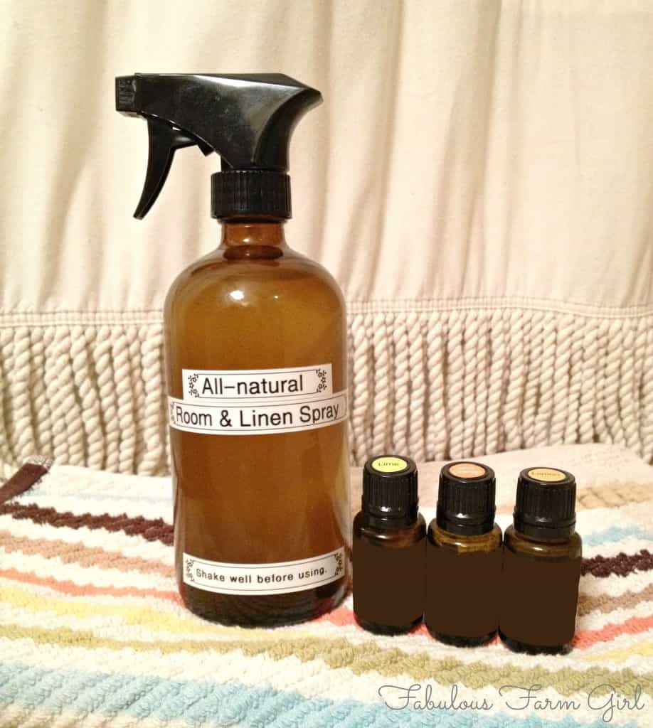 All-Natural Room & Linen Spray by FabulousFarmGirl. Spray liberally because this stuff smells great and is actually good for you.