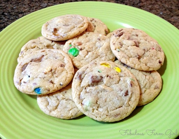 Halloween Candy Cookies by Fabulous Farm Girl. So you bought too much Halloween candy, now what? Cookies!!