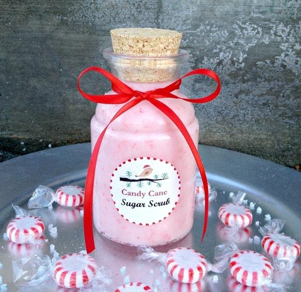 Candy Cane Sugar Scrub by FabulousFarmGIrl. Made with real candy canes. So cute!