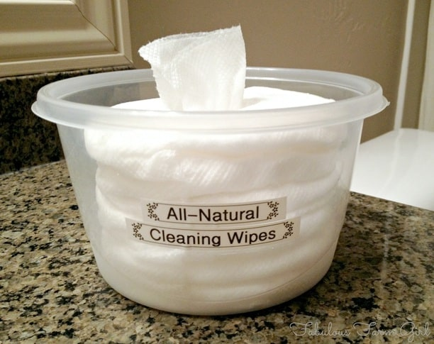 All-Natural Cleaning Wipes by FabulousFarmGirl. So easy to make, so effective and smell so good you'll wonder why you ever bought them.