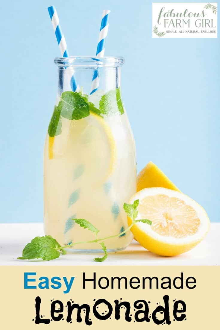 Do you love fresh-squeezed lemonade? This quick and easy recipe is a snap to make and tastes like summer in a glass. Your family will beg you to make more of this homemade, lemony goodness. #lemonade #homemadelemonade #summerdrinks #lemonaderecipe #drink