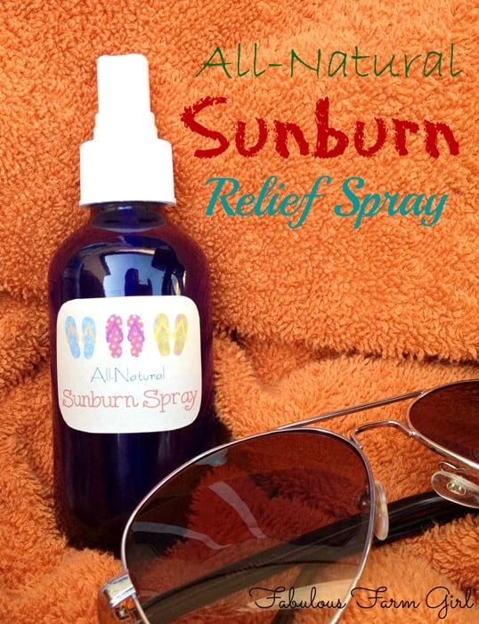 Soothing After-Sun Spray by FabulousFarmGirl. Soothe your skin after too much time in the sun. A summer must-have.
