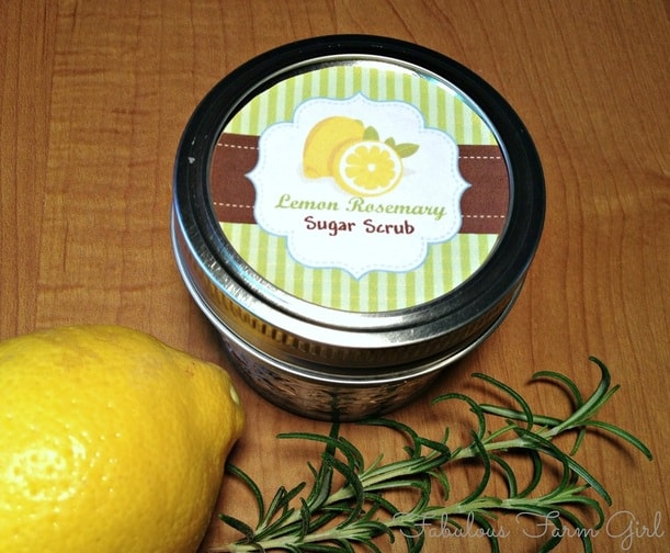 Lemon-Rosemary Sugar Scrub by FabulousFarmGirl. So simple and so inexpensive. Love it!