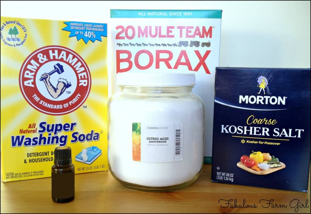 Homemade Dishwasher Detergent by FabulousFarmGirl. Easier, cheaper and as effective as store-bought without the toxic chemicals.