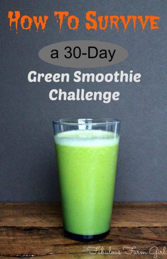 Green Smoothie Challenge--A Survivor's Story by Fabulous Farm Girl. Here's a few things I've learned while drinking nothing but green smoothies.