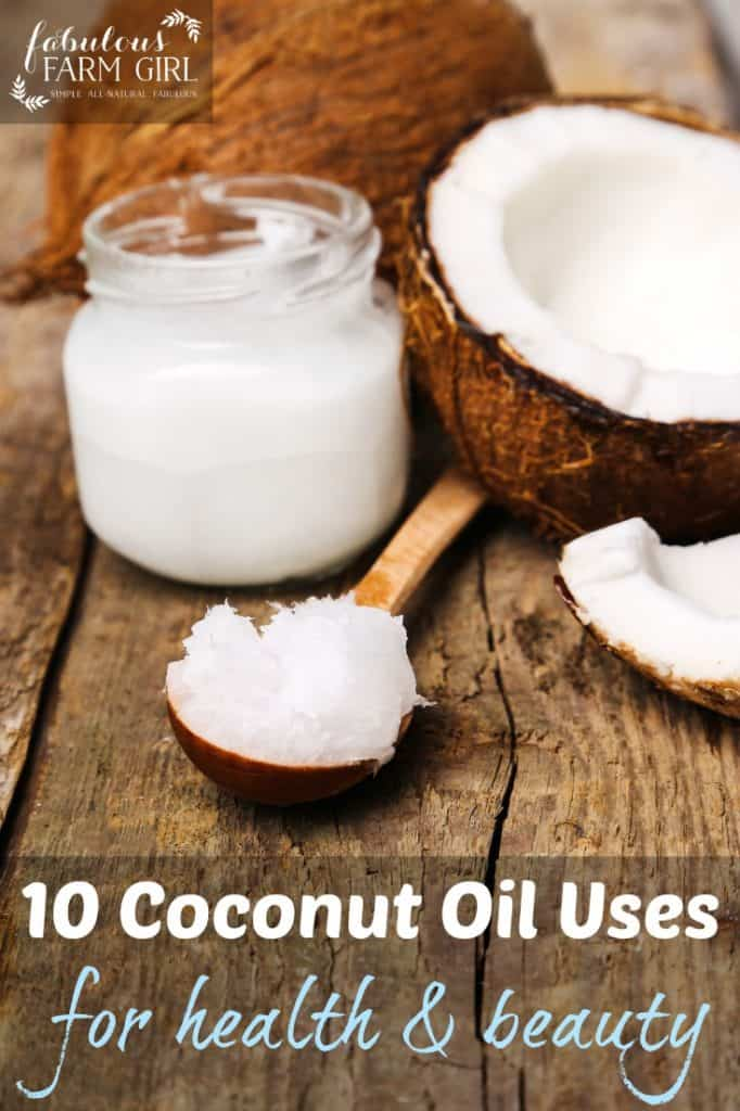 10 Coconut Oil Uses For Health and Beauty by FabulousFarmGirl. These are coconut oil recipes you will turn to again and again.