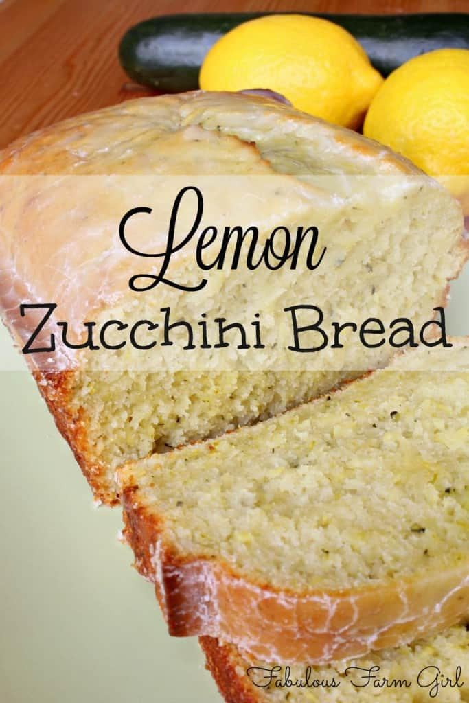 Zucchini Bread and a book review by FabulousFarmGirl.com. Lemon takes this otherwise boring quick bread and takes it to a whole new level. YUM!